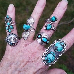 Vintage Turquoise Handcrafted Sterling Rings